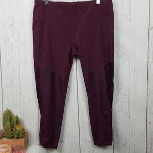 Sweaty Betty maroon leggings size XL